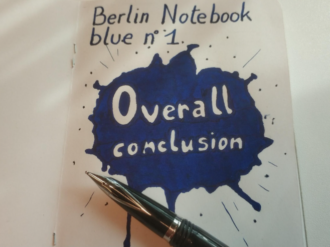 Berlin Notebook Blue No1 Overall Conclusion